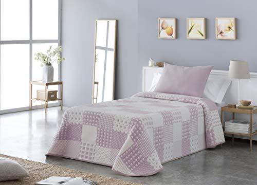 Vialman Tagesdecke, rosa, Bett 90:180 cm X 270cm...
