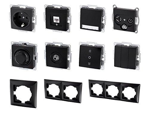 UP Schalterserie Schalterprogramm - Serie G1 schwarz (Serienschalter)