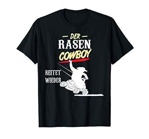Herren Rasencowboy, Rasentraktor, Gärtner Rasen mähen, Geschenk T-Shirt