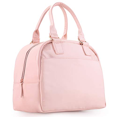 Shiny Insulated Lunch Bags for Women Waterproof Adult Lunch Box for Women Pink Large Capacity Lunch Cooler Bag Cute Purse Lunchbag for Ladies