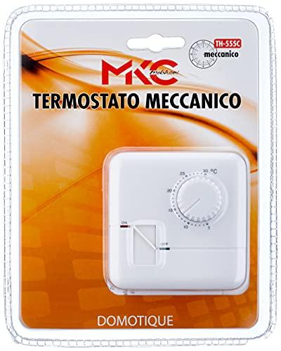 MKC th-555C Termostato mecánico, Blanco