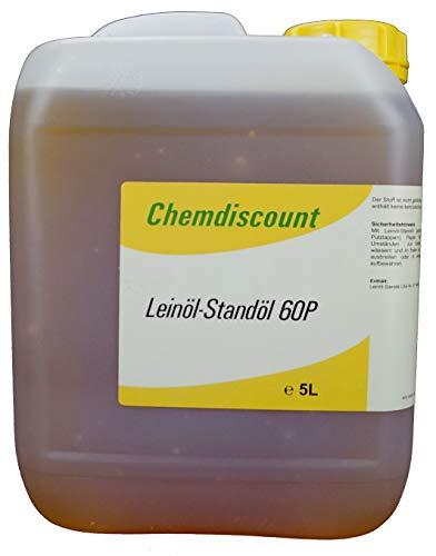 5Liter Leinöl Standöl 60P (gekochtes Leinöl, Bennebroeker Öl, polymerisiertes Leinöl), versandkostenfrei!