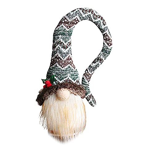 SOQNVLN Cubiertas para botellas de vino de Navidad, bolsas de botella de vino, envoltura de regalo, decoración de fiesta de Navidad, color verde