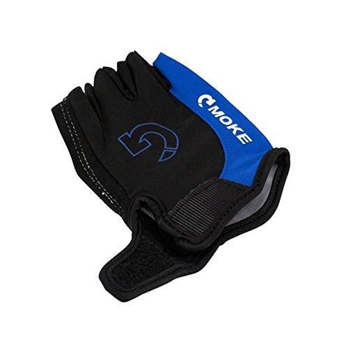 Herren Fahrradhandschuhe Fahrrad Sport Halbfinger Handschuhe Anti-Rutsch-Gel Pad Motorrad MTB Rennrad Handschuhe S-XL Neuankömmling - Blue, S, USA