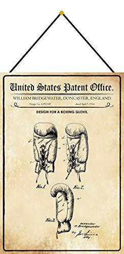 NWFS Patente diseño para un guante de boxeo, cartel de chapa de...