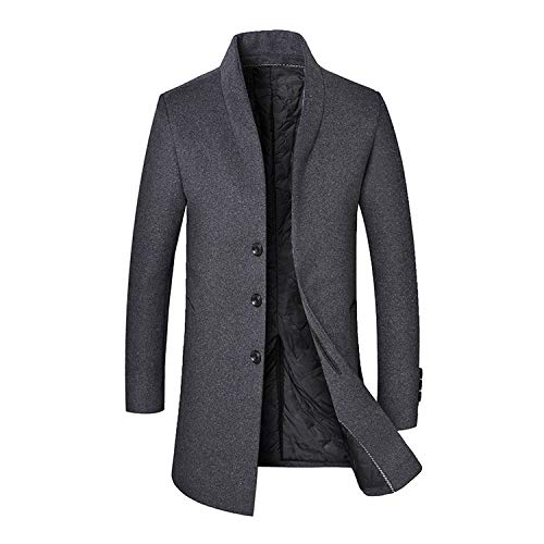 Woolen Coat Business Down Jacket Trenchcoat Business Male Solid Classic Overcoat Medium Long Jackets