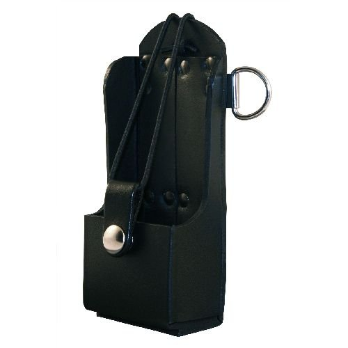 Boston Leather Radio Holder, Plain Black -