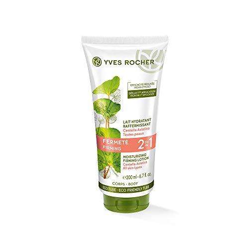 Yves Rocher PFLANZENPFLEGE KÖRPER straffende Körpermilch 2in1, straffende Feuchtigkeits-Creme für den Körper, 1 x Tube 200 ml