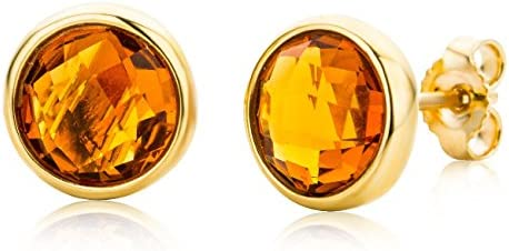 Miore Ladies 9ct Yellow Gold Round Cut Earrings