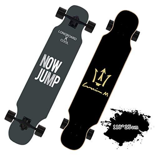 LYP Completo Skateboard para Principiantes Monopatín Completo con Cubierta de PU de Alta Velocidad con cojinete ABEC -11 y Plataforma de Madera de Arce para Deportes Extremos y Exteriores