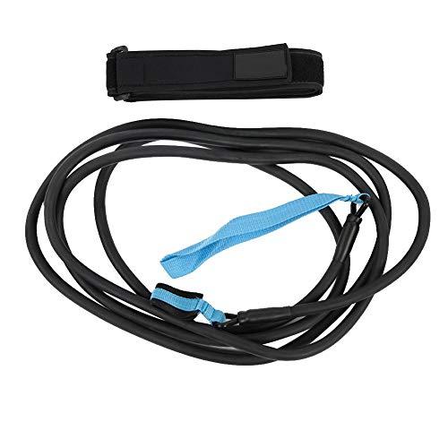 Tbest Cinturón de natación Correa de natación Cinturón de Resistencia de natación estacionario Cinturón de Entrenamiento de natación Seguir buceando 4m Nadador Ejercitado(3.4mm*9.5mm*4m)