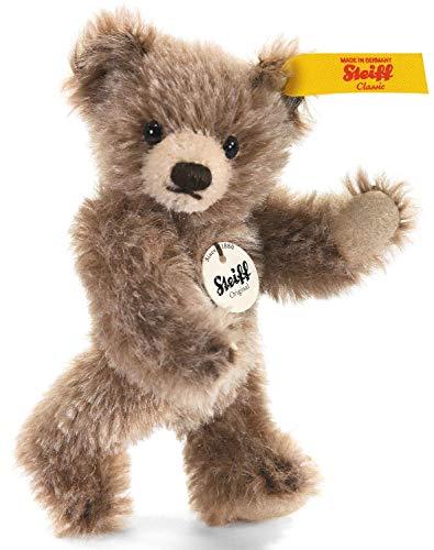 Steiff Mini Teddybär - 10 cm - Sammlertier für Erwachsene - weich & Nicht waschbar - braun gespitzt (040023)