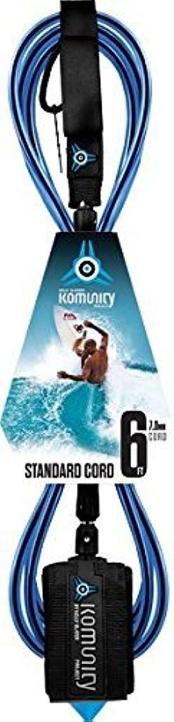 Komunity Project 6' Standard Surfboard Leash 7mm Blue