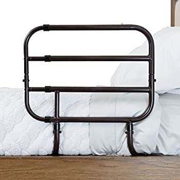 Able Life Bedside Extend-A-Rail Adjustable Senior Bed Safety Rail and Bedside Standing Assist Grab Bar