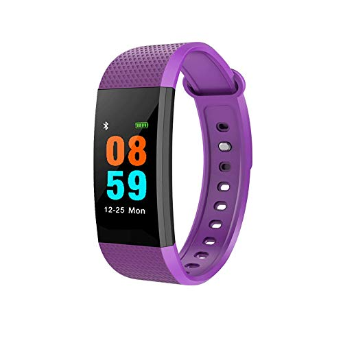 IP68 Bluetooth Smart Horloge Waterdichte Fitness Tracker, Horloge met Hartslagmonitor, Stappenteller Slaapmonitor Stopwatch SMS Call Notification Remote Camera Muziek App voor iOS Android Telefoon Paars