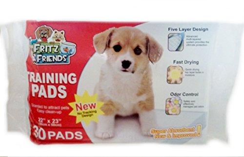 Pet Training Pads By Fritz & Friends 30 Pads - 22 X 23