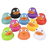 The Dreidel Company Rubber Duck Eye Poppers, Squeeze to Quack, Toy Assortment Duckies for Kids, Bath Birthday Gifts Baby Showers Summer Beach and Pool Activity, 2' (10-Pack)