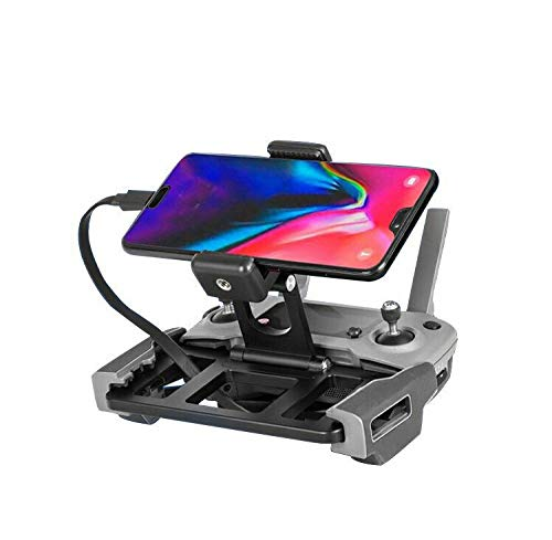 Tablet Mount Holder Compatible with Mavic 2/Spark/Mavic Air/Pro/Mini Remote Controller of DJI' s Drone, Aluminum-Alloy Adjustable Mobile Phone Bracket
