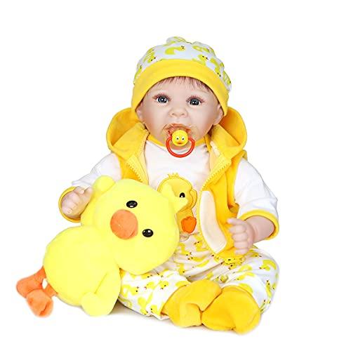 MAIDEDOLL 22' Realistische Reborn Baby Puppe Kind Handgemachtes Mädchen Weiche Silikon Vinyl Kleinkind Magnetisch Mund