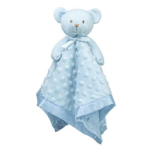 Pro Goleem Teddy Bear Lovey Baby Security Blanket Loveys for Babies Boy Unisex Soft Blue Lovie Gift for Newborn Toddler 16 Inch