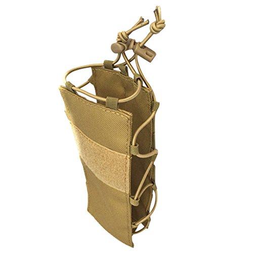 MagiDeal Poche pour Bouteille d'eau Sac Molle Porte-Bouteille Sac D'hydratation Randonnée Voyage - Bronze, 20x8x1cm