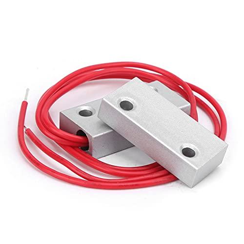Interruptor de Puerta magnético, Alarma magnética Material de aleación de Zinc Sello de Pegamento para PC Aspecto Elegante Sistema de Alarma para el hogar Sensor magnético para Seguridad en