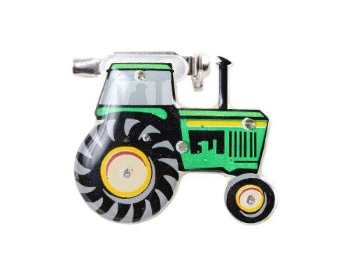 Blinki LED Anstecker Blinky Brosche LED Pin Button viele Motive, wählen:Traktor 190