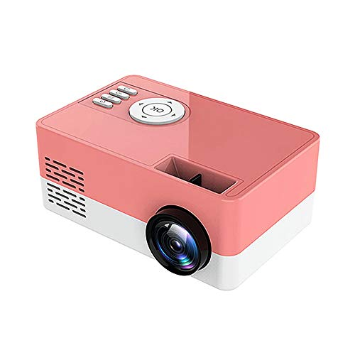 Support HD PROYECTOR Mini Micro PROYECTOR HD 1080 Portátil Full HD 1080P Compatible con USB HD SD AV VGA para el Cine en casa with Projection Function (Color : Pink, Size : 131 * 86 * 58mm)