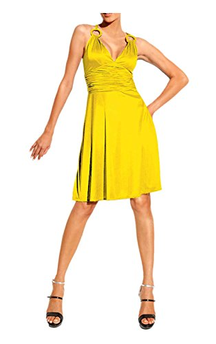 Heine Damen-Kleid Cocktailkleid Gelb Größe 38