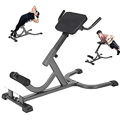 Qazqa Fitness Folding Roman Chair/Back Extension Bench, Hyperextension Multifunctional Waist Machine, Lower Back Exercise Equipment for Strength Training & Home Gym Workout & Ab Abdominal Sit Up Bench