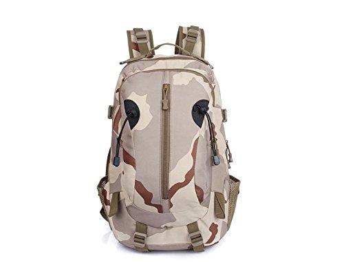 XIE@ All'aperto alpinismo borsa capiente Camo doppia con zaino Campeggio e zaino esercito fan pack , number three