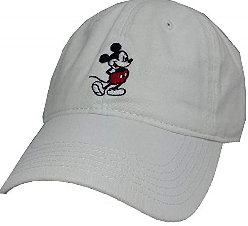 Disney Mickey Mouse Full Body Baseball Cap, Adjustable, White, One Size