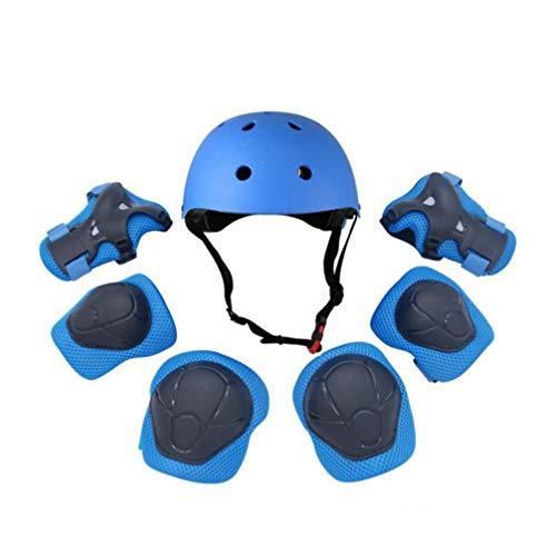 Beportble Beschermingsset voor kinderen, met elleboogondersteuning, helm, handbescherming, polsmanchetten, kniebeschermers voor skateboarden, skaten, motorfietsen, paardrijden, outdoor