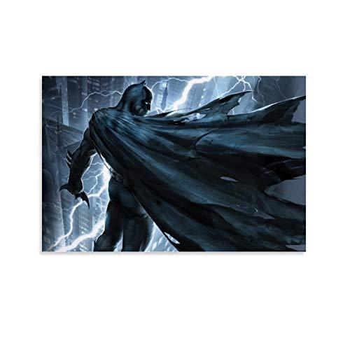 SSKJTC lienzo para sala de estar Decration Superhéroe Batman dibujos animados cómic héroe lienzo arte de pared para sala de estar 20 x 30 cm