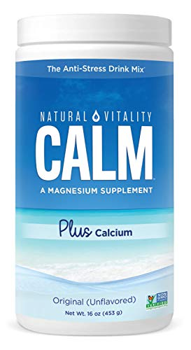 Natural Vitality Calm #1 Selling Magnesium Citrate PLUS Calcium, Anti-Stress Magnesium Supplement Drink Mix, Unflvored, Vegan, Gluten Free, Non-GMO (Package May Vary), 16 oz 113 Servings