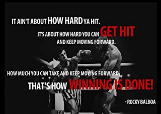 Motivational – Rocky V CLUBBA LANG – HOWハードYaヒット – Boxing – Quotations – a3ポスター – a3ポスター – Quote Signポスター印刷画像、スポーツ、ロッキーby Salopian Sales