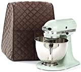 Large Size Stand Mixer Cover, Quilted Dustproof 4.5-6 Quart Kitchen Aid Organizer Bag, Mixer Covers Fits All Tilt Head & Bowl Lift Models for Kitchen Aid, Sunbeam, Hamilton Beach Mixers (Coffee)