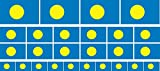 Mini Aufkleber Set - Pack glatt - 4 x 51x31mm+ 12 x 33x20mm + 10 x 20x12mm- Sticker - Palau - Flagge-Banner-Standarte fürs Auto, Büro, zu Hause & die Schule - Set of 26