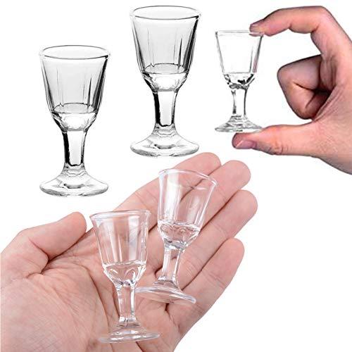 REATR 2pcs 10ml, 0.4oz Mini Wine Shot Glass Shooter Licor de Vino...