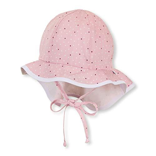 Sterntaler Flapper für Mädchen mit Bindebändern, Nackenschutz und Pünktchenmuster, Alter: 12-18 Monate, Größe: 49, Rosa