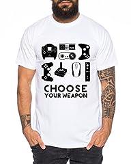Choose Your Waepon Camiseta de Hombre Gamer Play Sport Station Controller PS Game