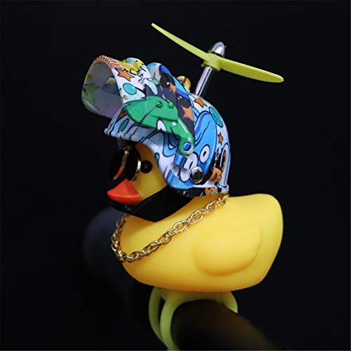 BELTI Rubber Duck Toy Car Ornaments Yellow Duck Car Dashboard Decorations with Propell