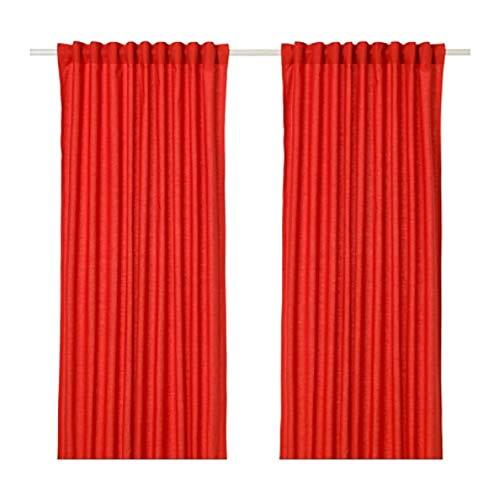 IKEA Annalouisa Curtains 1 Pair Red 304.108.35 Size 57x98