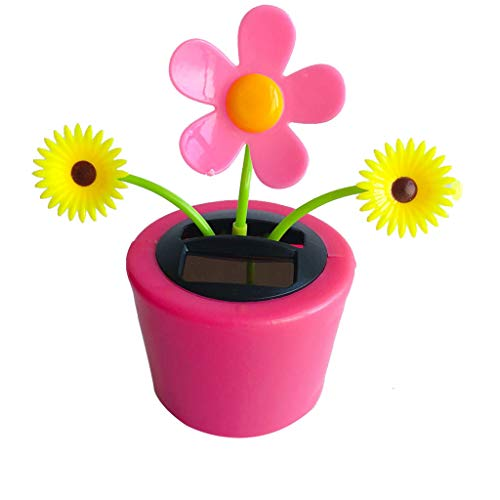 Sunflower 2,10.5x6.5x11.3cm Durable and Useful for Car Dashboard Decor Automatic Dancing Flower Toy Kids Gift Solar Powered Flip Flap Dancing Flower Toy
