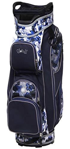 Glove It Golf Bag Indigo Poppy - 6 LBs Nylon Golf Bag with 15 dividers, Rain Hood & 9 Easy Access Pockets, Women's Golf Cart Bags, One Size