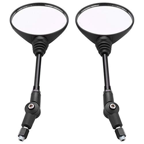 LNIMI Espejo universal plegable para motocicleta, espejo lateral de bicicleta, espejo retrovisor...