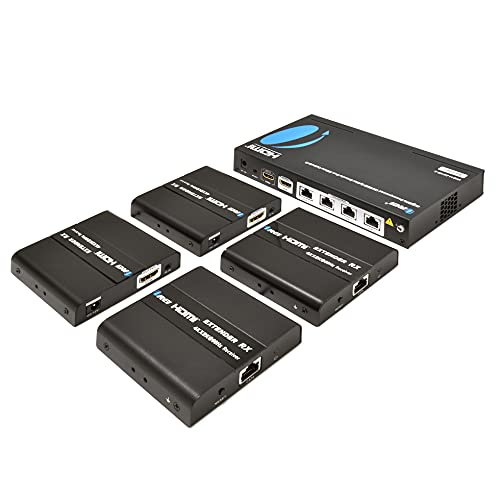 4K 1x4 HDMI Extender Splitter by OREI Multiple Over Single Cable CAT6/7 4K@60Hz 4:4:4 HDCP 2.2 with...