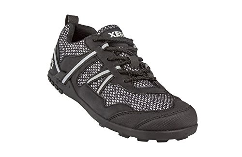 Xero Shoes TerraFlex Trail Running Hiking Shoe - Minimalist Zero-Drop Lightweight Barefoot-Inspired - Men, Black, 12 D(M) US