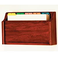 Wooden Mallet Square Bottom File Holder Legal Size Mahogany [並行輸入品]
