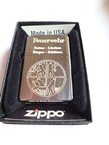 Zippo Feuerzeug Feuerwehr Logo Retten Löschen Bergen Schützen